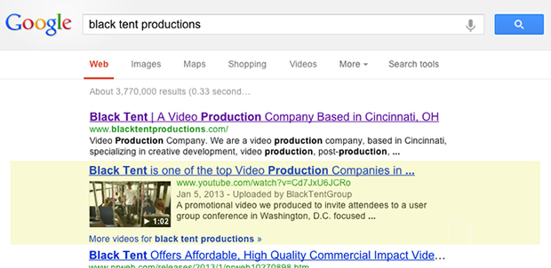 video production search engine optimization SEO